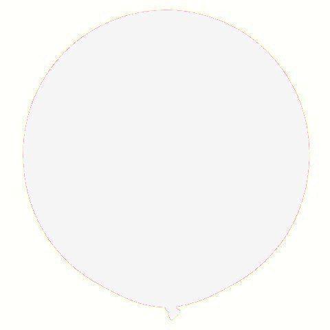 "Латексні кулі круглі без малюнка 18""/46см 01 пастель білий"