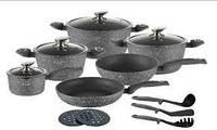 Набор посуды Edenberg  Grey Stone - 15 предметов