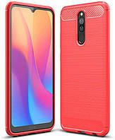 Чехол Carbon для Xiaomi Redmi 8 бампер оригинальный Red, фото 1