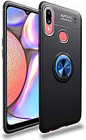 Чохол TPU Ring для Samsung Galaxy A10s / A107F бампер накладка з підставкою Black-Blue