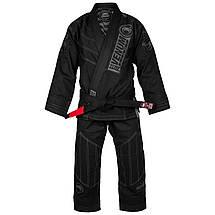 Кимоно для джиу-джитсу Venum Elite Light 2.0 BJJ GI Black Black, фото 3