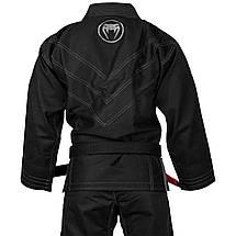 Кимоно для джиу-джитсу Venum Elite Light 2.0 BJJ GI Black Black, фото 2