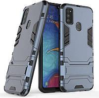Чехол Iron для Samsung Galaxy M30s / M307F Бампер противоударный Dark-Blue, фото 1