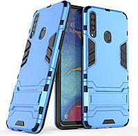 Чехол Iron для Samsung Galaxy A20s / A207F Бампер противоударный Blue, фото 1