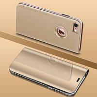 Чехол Mirror для iPhone 5 / 5s / SE книжка зеркальная Gold, фото 1