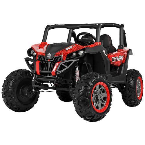 Дитяча машина M 3602EBLRS-3-2, 4WD, червоний з чорним, автопокраска
