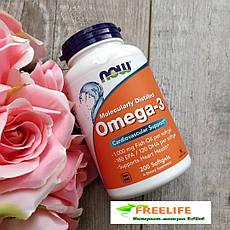 Омега-3 Now Foods, Omega-3, 180ЕРА, 200 капсул, офіційний сайт