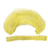 Шапочка Шарлотка одноразовая (гармошка), желтая,10 шт