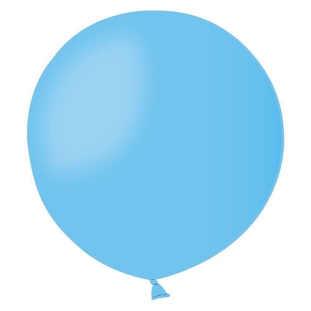 """Латексні кулі круглі без малюнка 18""""/46см 09 пастель світло-блакитний"""
