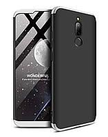 Чехол GKK 360 для Xiaomi Redmi 8 бампер оригинальный Black-Siilver, фото 1