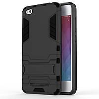 Чехол Iron для Xiaomi Redmi 4a бронированный бампер Броня Black