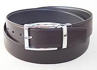Мужской двухсторонний ремень Alon черно-коричневый, фото 1