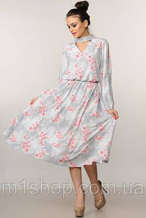 Женское цветочное платье-миди с чокером (Бохо-Миди ri), фото 2