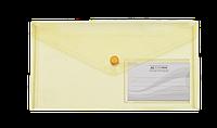 Папка-конверт на кнопке, dl travel, желтый bm.3938-08