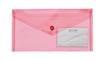 Папка-конверт на кнопке, dl travel, красный bm.3938-05