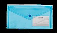 Папка-конверт на кнопке buromax bm.3938-02 синяя dl travel