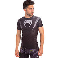 Комплект компрессионный мужской (футболка с коротким рукавом и шорты) VNM CO-5448-CO-5441-BK