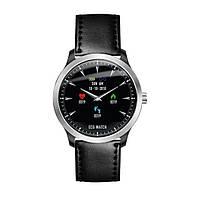 Розумні годинник Blaze Watch N58 Leather з тонометром і ЕКГ (Чорний), фото 1