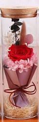 Роза в колбе с LED подсветкой КРАСНАЯБОЛЬШАЯ №А52