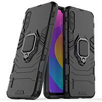 Чехол Iron Ring для Xiaomi Mi 9 Lite бампер противоударный оригинальный Black