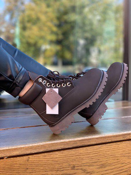 Женские ботинки Timberland Brown Fur