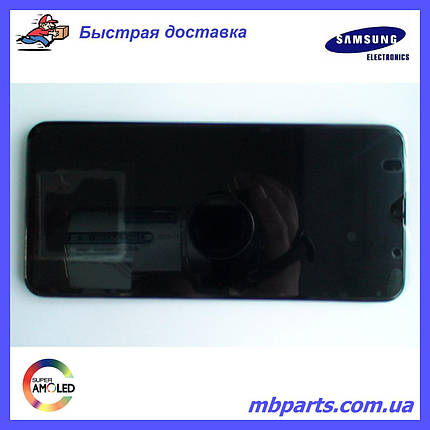 Дисплей с сенсором Samsung A307 Galaxy A30s Black, GH82-21190A, оригинал!, фото 2
