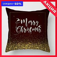 "❄️Декоративная подушка ""Marry Christmas"" с блестками❄️"