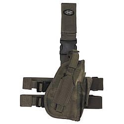 Кобура для пистолета набедренная регулируемая правосторонняя HDT-camo FG MFH
