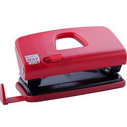 Дырокол пластиковый (до 10 л.), красный BM4007-05