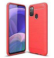 Чехол Carbon для Samsung Galaxy M30s / M307F бампер оригинальный Red, фото 1