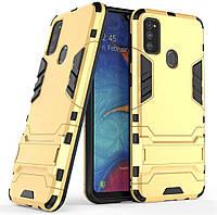 Чехол Iron для Samsung Galaxy M30s / M307F Бампер противоударный Gold, фото 1