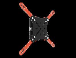Наклонный кронштейн для телевизора черный или белый (VESA 200/20кг) КБ-01-65 16212