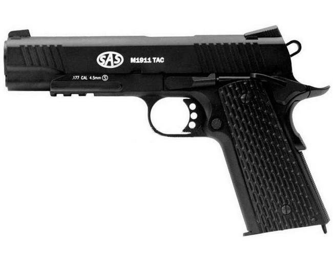 Пистолет пневматический SAS M1911 Tactical (4,5мм)