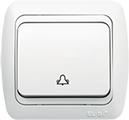 Выключатель звонка (кнопка) ABB EL-Bi Tuna для внутреннего (скрытого) монтажа, белый, Турция