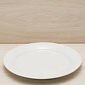 Тарелка диаметр 27 см белый, глянцевый