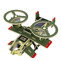 Деревянный конструктор RoboTime Вертолет Самсон на солнечных батарейках (P350S)