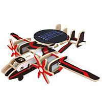 Деревянный конструктор RoboTime Самолет радиолокационной разведки с солнечной батареей (P340S)