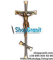 Крест с распятием православный 20*8см Filomat из латуни, бронзы для памятников