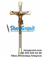 Крест с распятием православный 31*13см Filomat из латуни, бронзы для памятников