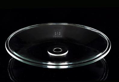 Блюдце стелянное для кальяна от Kaya Glass Plate с металлическим отверстием, 25