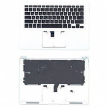 Клавиатура для ноутбука Apple MacBook Air 2013 A1466 с топ панелью горизонтальный энтер черный