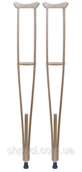 """Костыли подмышечные деревянные для взрослых, h=1162-1342 мм, """"Simbo""""/ """"Норма Трейд"""", пара"""