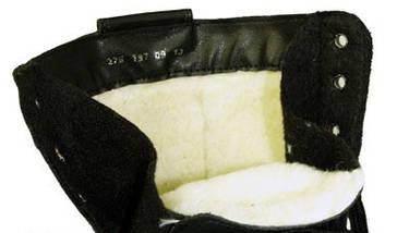 Берцы (ботинки с высокими берцами) кожа облегченные Зима (мех) ПУ (литая) подошва черные, фото 2