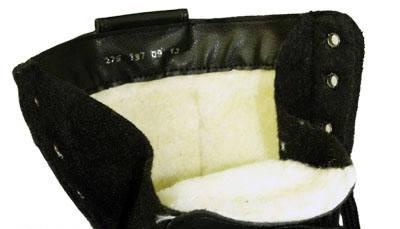 Берцы кожа облегченные Зима (мех) ПУ (литая) подошва черные, фото 2