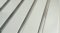 Реечный алюминиевый потолок Allux белый матовый - нержавейка сатин комплект 120 см х 150 см