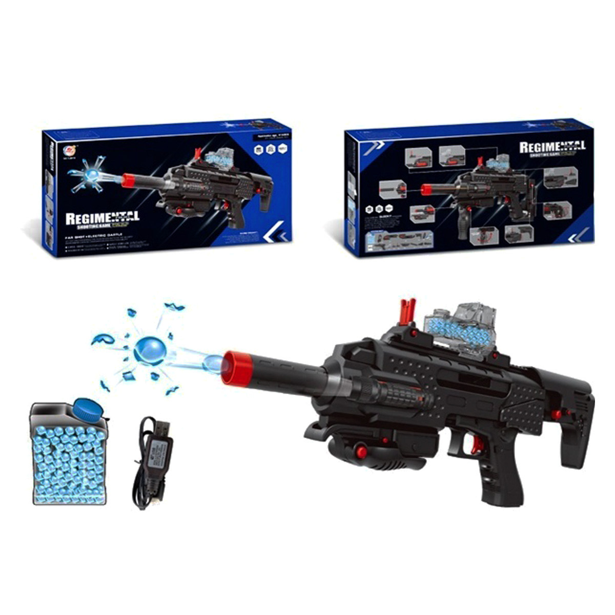 """Автомат-пистолет """"Regimental Police"""" с гелевыми пулями TJ6818"""