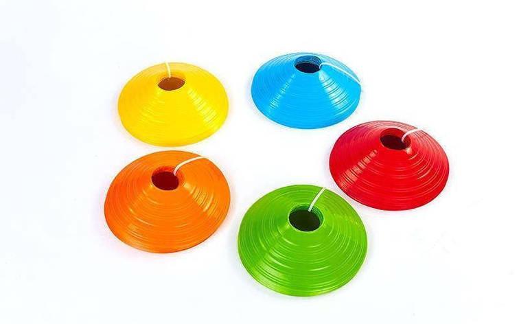 Фишки для разметки поля 1шт UR С-6100 (пластик, d-20см, h-5см, цвета в ассортименте), фото 2
