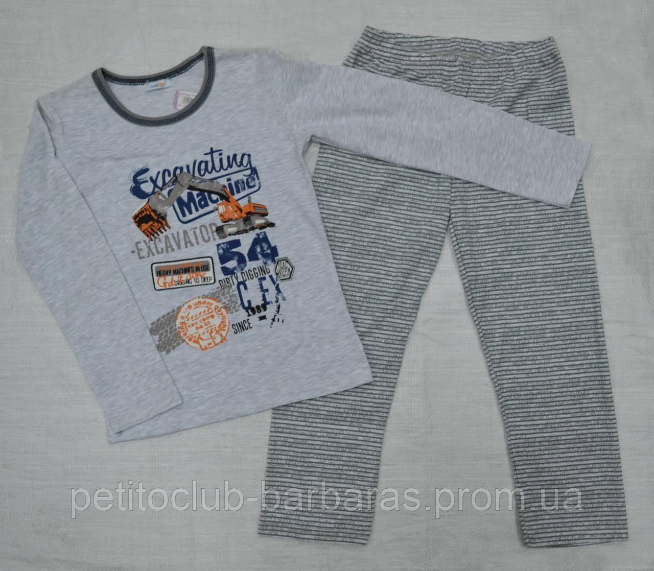 """Детская пижама для мальчика """"Excavator"""" (Sevim, Турция)"""