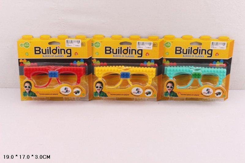 Конструктор-очки  очки, 3 цвета, на планш.19*17*3см /320-2/