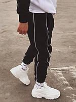 Мужские черные штаны на флисе G4, фото 1